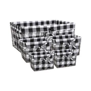 Design Imports Vintage-like Chicken Wire Check Liner Basket Set of 5