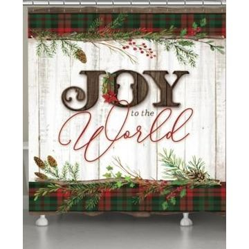 Laural Home Holiday Joy Shower Curtain Bedding