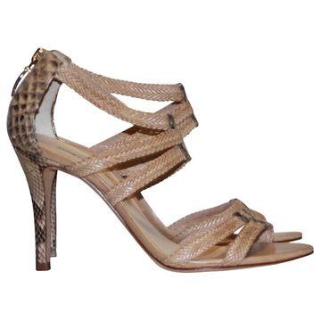 Alexandre Birman Beige Leather Heels
