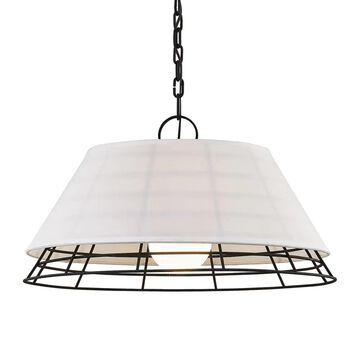 Troy Lighting Xander Centennial Bronze Industrial Geometric Large (Larger Than 22-in) Pendant Light | F7195