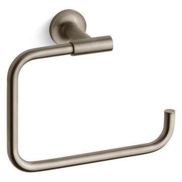 Kohler Purist Towel Ring, Vibrant Brushed Bronze