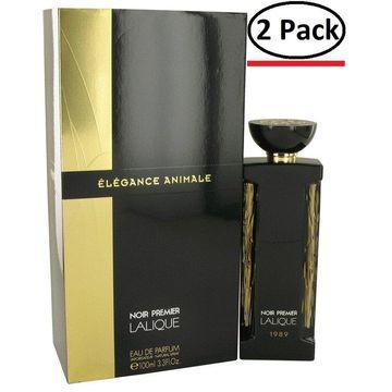 Elegance Animale by Lalique Eau De Parfum Spray 3.3 oz for Women (Package of 2)