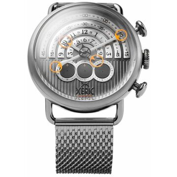 NEW Xeric Halograph Chrono Sapphire Mesh Gunmetal Orange | AUTHORIZED DEALER