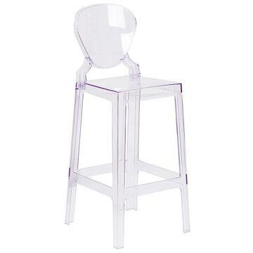 "Flash Furniture 29"" Tear Back Ghost Chair Clear"