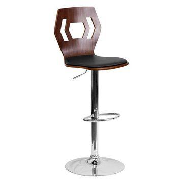 Flash Furniture Walnut Contemporary Barstool