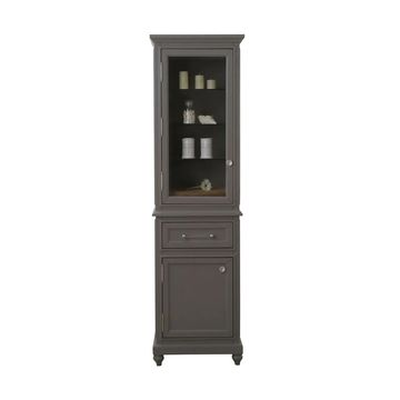 Water Creation Derby Collection Cashmere Grey Linen Cabinet