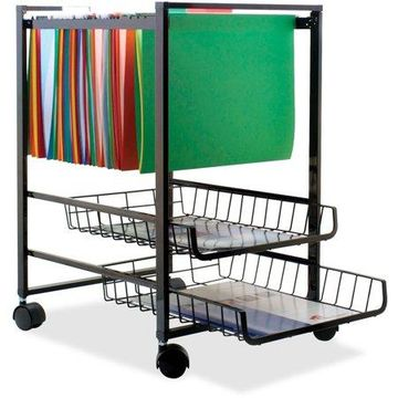 Advantus 2 Drawers Filing Cart , Black