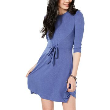 Be Bop Womens Solid Tie Front Casual Dress
