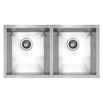 Whitehaus WHNC2917 Stainless Steel 30'' Double Bowl Undermount Kitchen