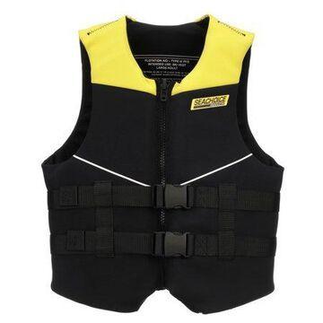 Seachoice 86578 Neoprene Multi-Sport Vest Yellow/Black Adult XL Size Fits 44-48 Inch Chest Coast Guard Type III