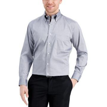 Club Room Men's Classic/Regular-Fit Performance Stretch Yarn-Dyed Pinpoint Dress Shirt, Created for Macy's