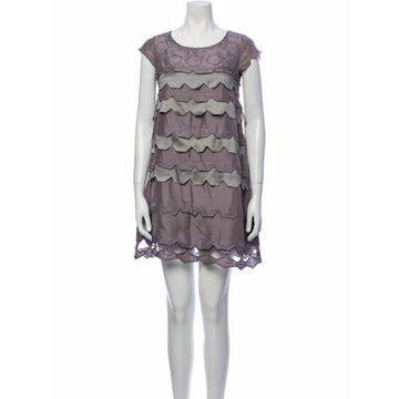 Silk Mini Dress Grey