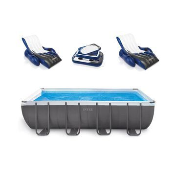 Intex 18-ft x 9-ft x 52-in Rectangle Above-Ground Pool | 45134
