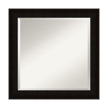 Amanti Art Manteaux 24-Inch Square Vanity Mirror in Black
