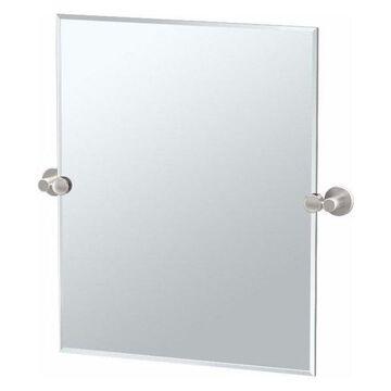 Gatco 4699SM Channel 19.5 Inch x 24 Inch Rectangular Beveled Frameless Mirror
