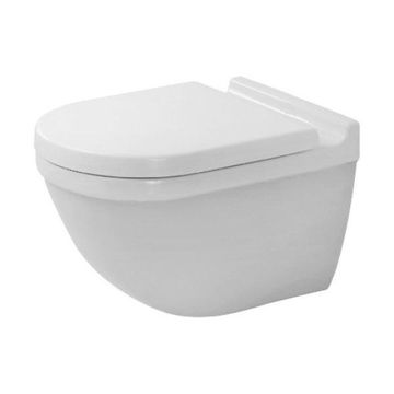 Duravit 2527090092 Rimless 1.6/0.8 GPF One Piece Round Toilet - Less Seat and C
