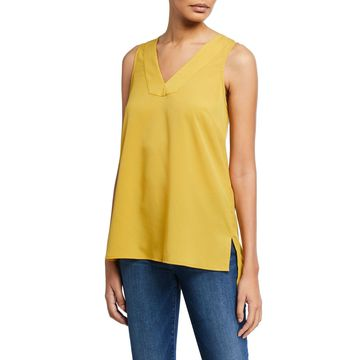 Tuck-Pleated High-Low Tank