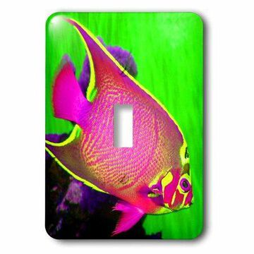3dRose Neon Fish., Double Toggle Switch