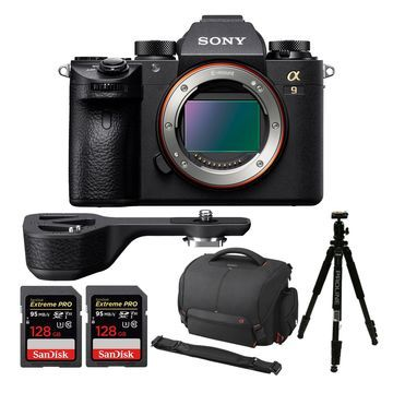 Sony a9 Full Frame Mirrorless Camera with Grip Extension and Accessory Bundle
