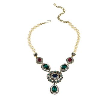 Heidi Daus Enchante Beaded Crystal Drop Necklace