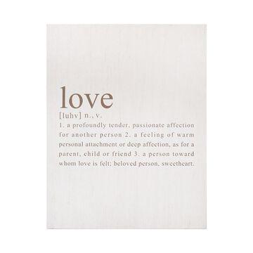 Stratton Home Decor Definition of Love Wall Decor