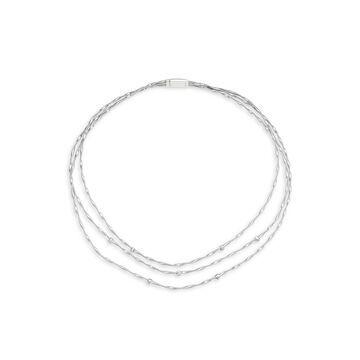18K White Gold & Diamond Multi-Strand Necklace