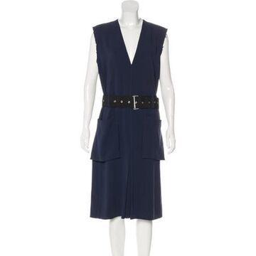 Sleeveless Midi Dress w/ Tags Navy