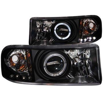ANZO USA 111196 94-01 RAM PROJECTOR W/LED HALO BLACK CLEAR HEADLIGHTS (SET)