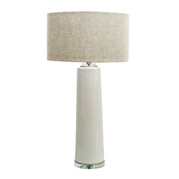 Jeco White Ceramic 35.75-inch Table Lamp