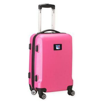 NHL New York Rangers 20-Inch Hardside Carry On Spinner in Pink