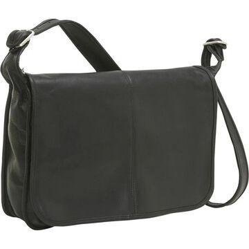 LeDonne Leather Classic Flap Over Messenger Bag