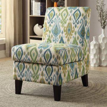 Benzara Accent Chair with Storage