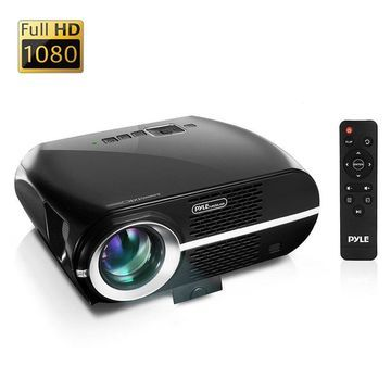 Updated Pyle Video Projector 5.8 LCD Panel LED Lamp Cinema Home Theater w/ Built-in Stereo Speakers