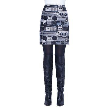 Stereo Jacquard Mini Skirt