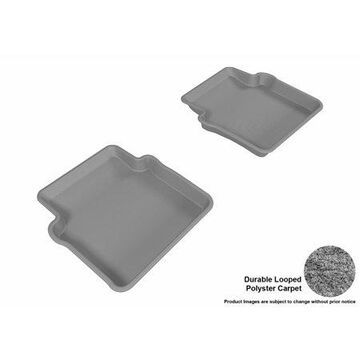 3D MAXpider 2012-2014 Chrysler 200 Second Row All Weather Floor Liners in Gray Carpet