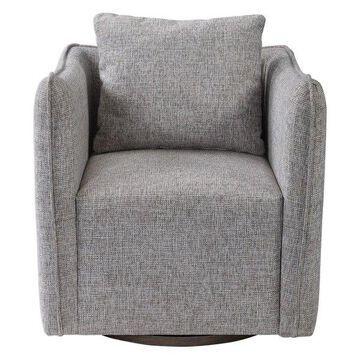 Uttermost 23492 Uttermost Corben Gray Swivel Chair