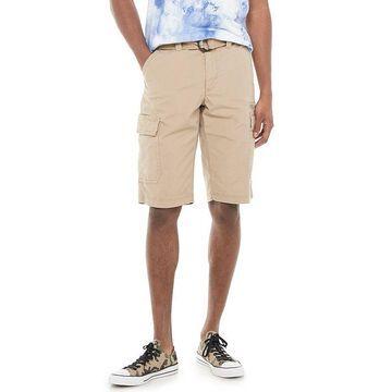 Men's Urban Pipeline Belted Stretch Canvas Cargo Shorts, Size: 40, Med Beige