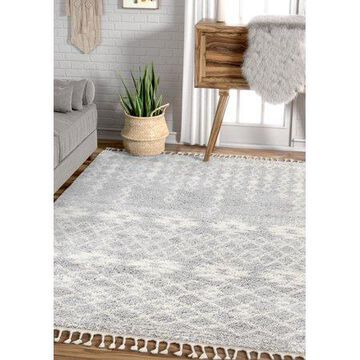 Well Woven Ultra Soft Moroccan Tribal Melody Tozi Grey 5'3