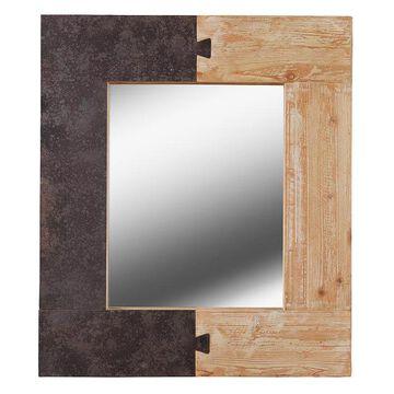 Kenroy Home Enigma Wall Mirror, Brown, 31.5X27
