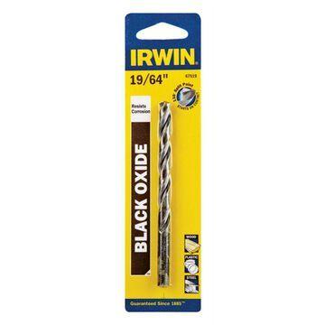 Irwin 19/64 in. x 4-3/8 in. L High Speed Steel Drill Bit 1 pc.