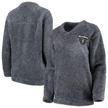 Oakland Raiders Concepts Sport Women's Trifecta Pullover Sweatshirt Charcoal