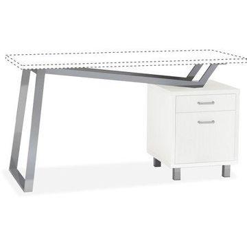 Mayline, Laminate 2-Drawer Pedestal V-desk Base, 1 Each