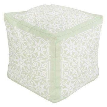 Surya Cube Pouf Ottoman, Mint