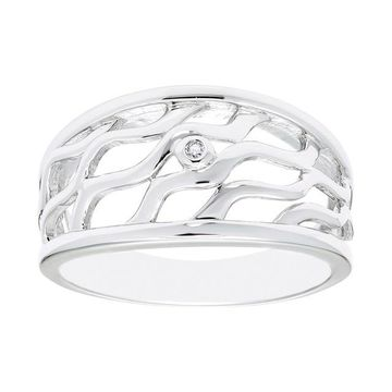 Boston Bay Diamonds Sterling Silver Diamond Accent Wavy Ring