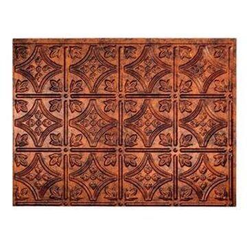 Fasade Traditional Style #1 Moonstone Copper Backsplash 15 Sq Ft Kit