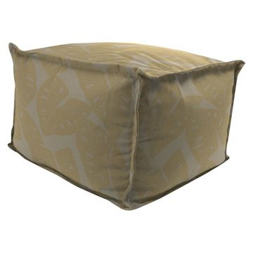 Outdoor Bean Filled Pouf/Ottoman In Sunbrella Radian Dune - Jordan Manufacturing