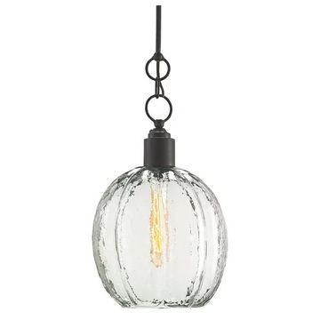 Currey and Company 9514 Aquaterra 1 Light Globe Pendant - Old Iron