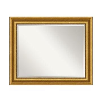 "Amanti Art Parlor Gold-tone Framed Bathroom Vanity Wall Mirror, 33.62"" x 27.62"""