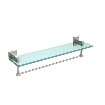 Allied Brass Montero Collection 22-inch Glass Vanity Shelf with Integrated Towel Bar - 22