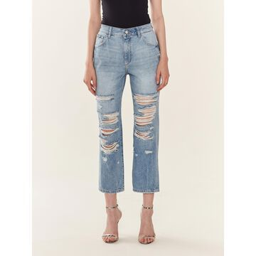 DL1961 Jerry High Rise Vintage Straight Jeans - Echo Park (Blue)
